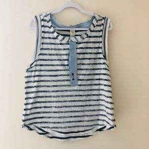 NWOT We The Free Inside Out Striped Tee